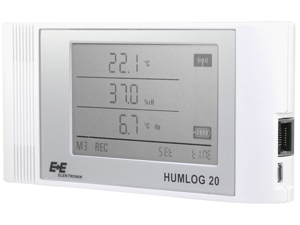 Data logger for humidity temperature air pressure and CO2 (HUMLOG 20  #595751
